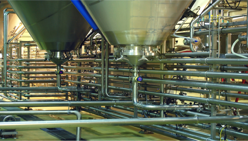 747258 Stainless piping food or pharma